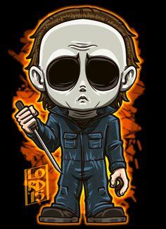 Horror Cartoon, Horror Icons, Cartoon Art, Halloween Movies, Halloween Horror, Scary Movies, 80s Movies, Horror Movie Characters, Horror Movies