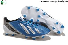 Buy 2013 New Adidas F50 adizero miCoach Leather FG - Blue Black White Football Shoes For SaleFootball Boots For Sale