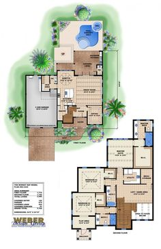 Marvelous Beach House Plan: Coastal Waterfront Home Floor Plan, 2 Story. Coastal  House PlansFlorida ...