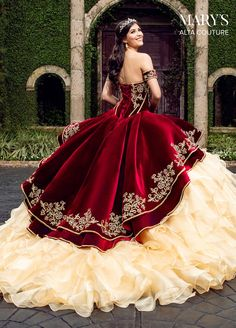 Mexican Quinceanera Dresses, Mexican Dresses, Mariachi Quinceanera Dress, Quinceanera Party, Burgundy Quinceanera Dresses, Quince Dresses Burgundy, Maskerade Outfit, Pretty Dresses, Beautiful Dresses
