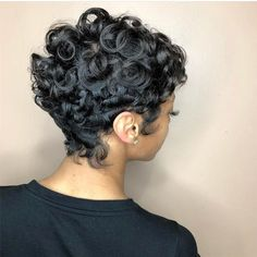 Women Hairstyles For Fine Hair Hair OluchiZelda Curly Hair Designs, Curly Hair Styles, Natural Hair Styles, Locs Styles, Weave Styles, Pixie Styles, Short Styles, Short Sassy Hair, Short Hair Cuts
