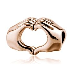 Rose Gold Gesture of Love Charm 925 Sterling Silver