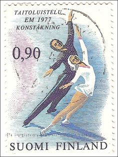 Stamp - European Figure Skating Championships in Helsinki, 1977