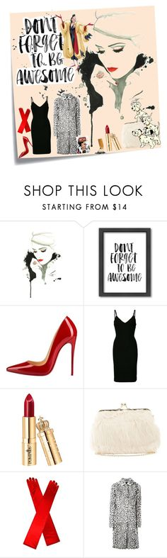 """""""Cruel a De Vil 🐾"""" by ellason-knouse ❤ liked on Polyvore featuring Post-It, Americanflat, Christian Louboutin, Dsquared2, Charlotte Russe, Givenchy and Disney"""