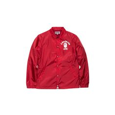 e502b26a448a BAPE COLLEGE COACH JACKET ( 370) ❤ liked on Polyvore featuring outerwear