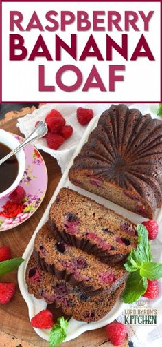 Loaded with fresh raspberries, this Raspberry Banana Loaf is the most moist and delicious loaf ever! Prepared with only a bowl and a spatula; no sifting or adding ingredients one at a time. Dump everything in a bowl, stir to combine, and bake. A loaf like this needs no frosting or fussing; serve thick slices with a hot tea or coffee! #banana #loaf #bread #raspberry #baking #raspberryloaf #onebowl Savory Bread Recipe, Yeast Bread Recipes, Quick Bread Recipes, Best Dessert Recipes, Brunch Recipes, Fun Desserts, Baking Recipes, Delicious Desserts, Breakfast Recipes