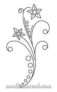 Free Hand Embroidery Pattern: Dots & Flowers Mary Corbett www.needlenthread.com