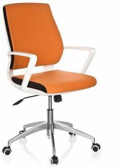 Design Bürostuhl Drehstuhl ESTRA orange Schreibtischstuhl Chefsessel Sessel NEU