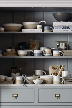 For over a year now, our resident potter Claire has been tinkering and toiling away in the ceramics studio at Cotes Mill. She spends the days totally immersed in her craft, designing and throwing an ever-growing range of classic tabletop items for the kitchen, from little espresso cups to grand pouring bowls and colanders.