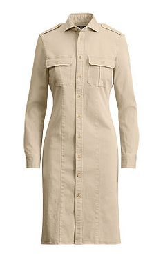 Cotton Twill Shirtdress - Polo Ralph Lauren Short - RalphLauren.com