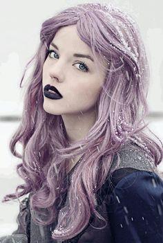 Beautiful winter hair