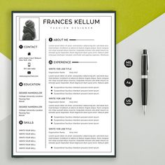 Resume template instant download Professional resume image 0