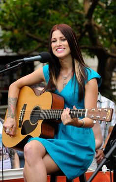 Cassadee Pope performs in Los Angeles.
