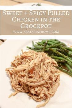Sweet and Spicy Pulled Chicken in the Crockpot — Aratari At Home Slow Cooker Recipes, Crockpot Recipes, Cooking Recipes, Healthy Recipes, Yummy Recipes, Pulled Chicken Recipes, Pulled Chicken In Crockpot, Easy Turkey Meatballs, Nutritious Snacks
