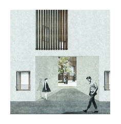 'The oblique housing project'_The facade_Elia Loupasaki_Year 5_Kingston University_MArch