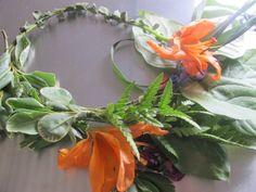 DIY flower headband.