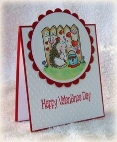 Hedgehog Love Topper Card