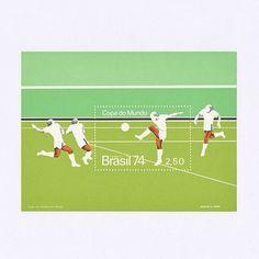 1974 World Cup (West Germany). Brazil 1974. Design: Martha C. Poppe. #mnh #graphilately