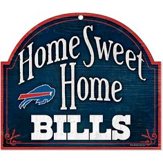 Wincraft Buffalo Bills Home Sweet Home Arched Wood Sign