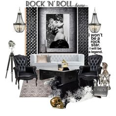 Rock N Roll Set - Madonna by szaboesz on Polyvore featuring interior, interiors, interior design, home, home decor, interior decorating, Driade, Moooi, Zentique and Arteriors