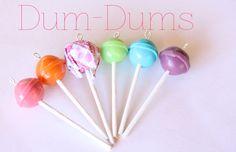 MIniature Dum Dum lollipops made from polymer clay. - Toni Ellison