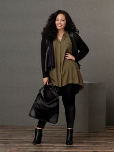 Tanesha Awasthi, founder of Girl With Curves, is the face of Simply Emma's Fall 2016 Collection, available exclusively at Sears.