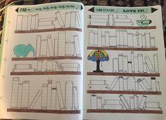 beautiful bookshelf from fb bujo page (Emily)