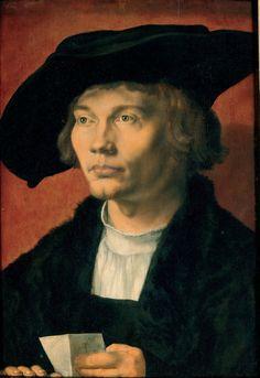 Albrecht Dürer, Portrait of Bernhard von Reesen, 1521. Oil on oak, 18 x 12 2/5 in. (45.5 x 31.5 cm) © Staatliche Kunstsammlungen Dresden, Gemäldegalerie Alte Meister / Elke Estel, Hans-Peter Klut