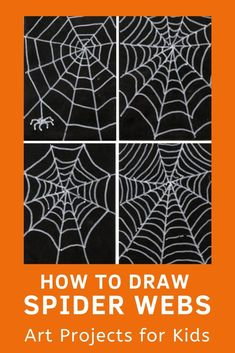 Learn how to draw spider webs with this fun and easy art project for kids. Simple step by step tutorial available. Spider Web Drawing, Spider Art, Spider Webs, Easy Art Projects, Drawing Projects, Projects For Kids, School Projects, Spiders For Kids, How To Make Spiders