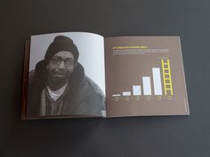 Ladder Up, Annual Report, Website & Stationery by Nicole Ziegler, via Behance