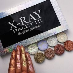 OUR XRAY PALETTE IS SOOO BEAUTIFUL THIS IS LARGE PALETTE GET 50% OFF ON ALL SMALL SINGLE PRESSED GLITTERSCODE: OFFPG50 OUR GLITTER HIGHLIGHTERS AND GLITTER BRONZERS ARE IN THE SIZE 36MM BUT THESE ARE THICKER SO THAT MEANS MORE PRODUCT LESS SPACE THAT MAKES ON YOUR MAGNETIC PALETTE