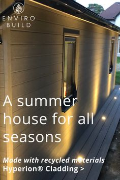 Hyperion composite cladding is made using recycled HDPE plastic from post-consumer waste and reclaimed wood from manufacturing by-products. Composite Cladding, Composite Decking, Builders Merchants, Sustainable Building Materials, Floors And More, Coastal Living, Recycled Materials, Helping Others, Natural Light