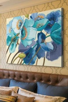 10 Vibrant Pieces of Poppy Art to Pep up Your Space featuring Great BIG Canvas and Imagekind via Surround Yourself. Painting & Drawing, Watercolor Paintings, Watercolor Peacock, Peacock Painting, Painting Flowers, Pintura Graffiti, Tableau Pop Art, Art Moderne, Painting Inspiration