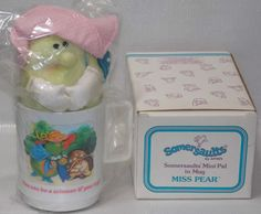 Avon Somersaults Miss Pear Mini Pal in a Mug by DianesBargainShack, $18.00