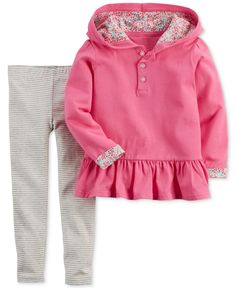 Carter's Baby Girls' 2-Piece Hoodie and Pants Set