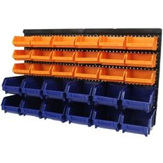 Merveilleux Large 30pce Storage Bin/Tub Kit Wall Mount Garage/Warehouse Tool/Bins/Rack  Board | EBay