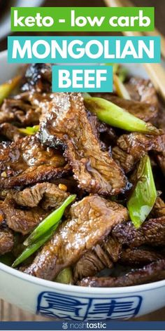 Keto Mongolian beef is such an easy low carb stir fry recipe! Its really easy to make your own low carb takeout at home. Low Carb Burger, Low Carb Keto, Ketogenic Recipes, Diet Recipes, Healthy Recipes, Vitamix Recipes, Healthy Nutrition, Recipes Dinner, Ketogenic Diet
