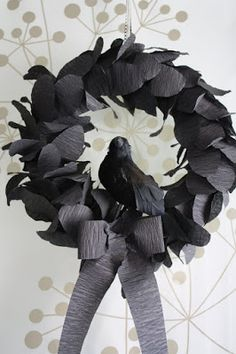 Katydid and Kid: Nevermore Halloween Wreath {Tutorial}