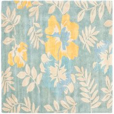 Soho Blue and Multi Square: 6 Ft. In. x 6 Ft. In. Area Rug