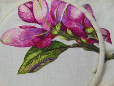 """Peinture à l'aiguille """"les magnolias"""""""