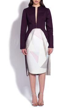 Jacheta vascoza violet croiala asimetrica Dresses For Work, Fashion, Moda, Fashion Styles, Fashion Illustrations