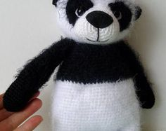 Items similar to Mr Panda Bear/Cute fluffy crochet bear/Stuffed Toy Bear/Bear Toy handmade by WoolyaBears/READY TO SHIP on Etsy Panda Bear, Trending Outfits, Unique Jewelry, Handmade Gifts, Cute, Etsy, Vintage, Kid Craft Gifts, Craft Gifts