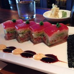 Oshizushi: Osaka Style Sushi. Tastes good but only 4 pieces for $ 14…