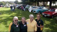 At the Tathra Lions Club 40th anniversary celebrations are (from left) club president Peter Davis with Betty O'Brien, Maureen Waterson and R...