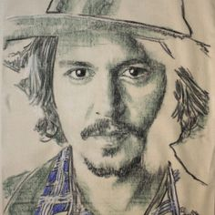 johnny I Am Amazing, Celebrity Drawings, Johnny Depp, Avengers, Nerd, Actresses, Actors, Wall Art, My Favorite Things