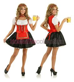 Red Beer Maid Costume