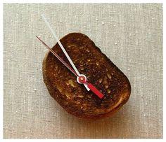 Toast clock. Toast. Clock. TOAST CLOCK