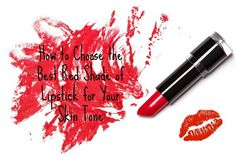 Red lipstick with trace on white background