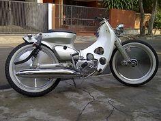 The Devils In The Detail Honda Devil Passport And Jakarta Motos Honda, Honda Bikes, Honda Motorcycles, Custom Motorcycles, Custom Bikes, Custom Moped, Honda Cub, Cool Bicycles, Cool Bikes
