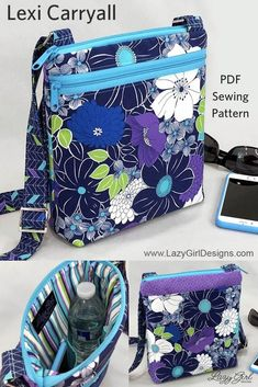 Make The Perfect Crossbody Bag Make The Perfect Crossbody Bag,DIY NÄHEN Stay safe and organized on the go with this Lexi Carryall cross-body bag sewing pattern. Carry all you really need and keep your. Easy Sewing Projects, Sewing Projects For Beginners, Sewing Hacks, Sewing Tutorials, Sewing Tips, Sewing Ideas, Sewing Crafts, Bags Sewing, Fabric Crafts